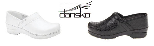 Dansko Nursing Shoes Black and White
