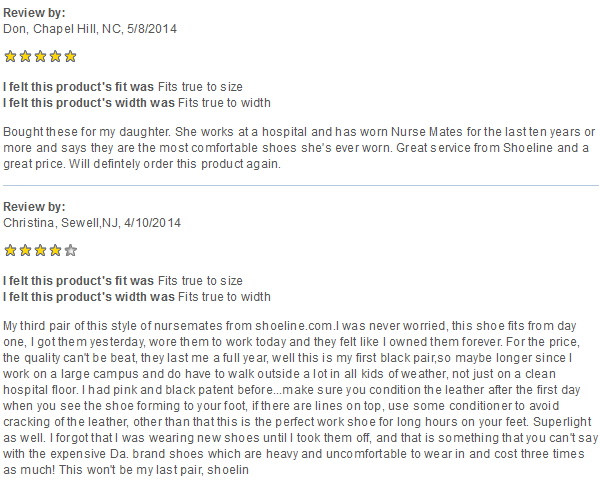 Dove Shoe Customer Reviews