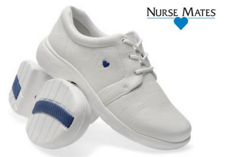 Nurse Mates Angel Lace Up White